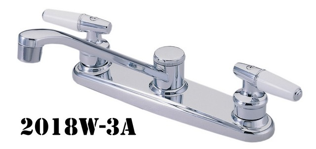 Double Handle Kitchen Faucets, Double Handle Kitchen Faucet with Side Spray
